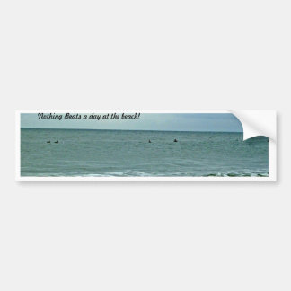 Beau jour le long de la plage autocollant de voiture