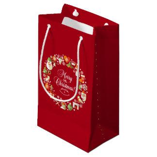 Beau joyeux petit sac de cadeau de Noël |