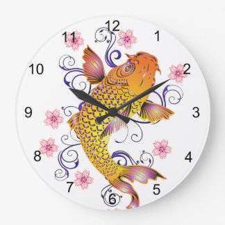 Beau Koi Grande Horloge Ronde
