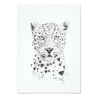 Beau léopard carton d'invitation  12,7 cm x 17,78 cm
