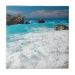 Beau mariage hawaïen de surf de l'eau de plage Alo Carreau En Céramique