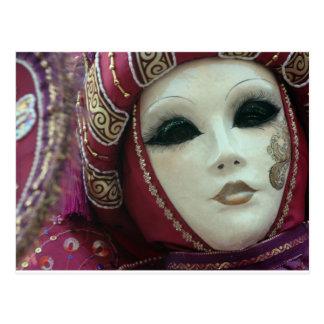 beau masque de Venise Carte Postale