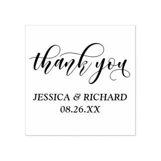 Beau Merci moderne de mariage de calligraphie