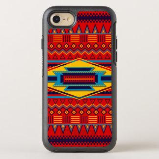 Beau motif africain rouge de textile coque otterbox symmetry pour iPhone 7