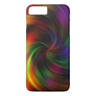 Beau motif coloré de remous coque iPhone 7 plus