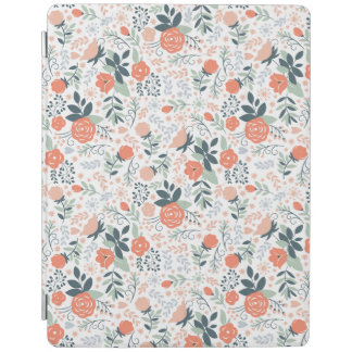 Beau motif floral Girly Protection iPad