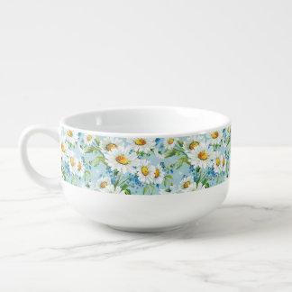 Beau motif floral lumineux élégant 2 bol à soupe