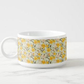 Beau motif floral lumineux élégant bol à chili