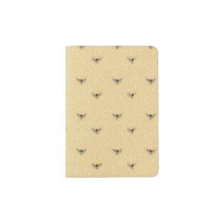 Beau motif tiré par la main chic d'abeille protège-passeport
