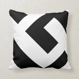 Beau noir et blanc moderne oreiller
