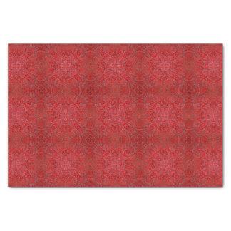 Beau papier de soie de soie complexe rouge de