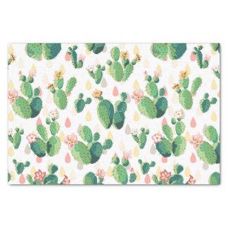 Beau papier de soie de soie mignon de cactus