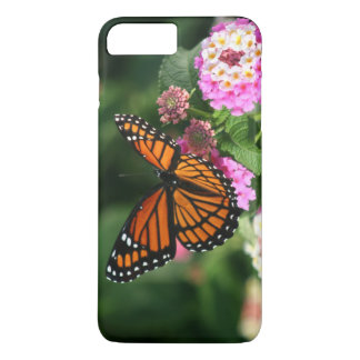 Beau papillon de monarque sur la fleur de Lantana Coque iPhone 8 Plus/7 Plus