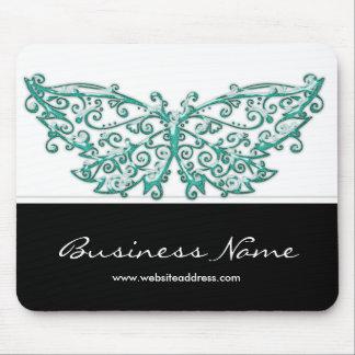 Beau papillon Mousepad de turquoise Tapis De Souris