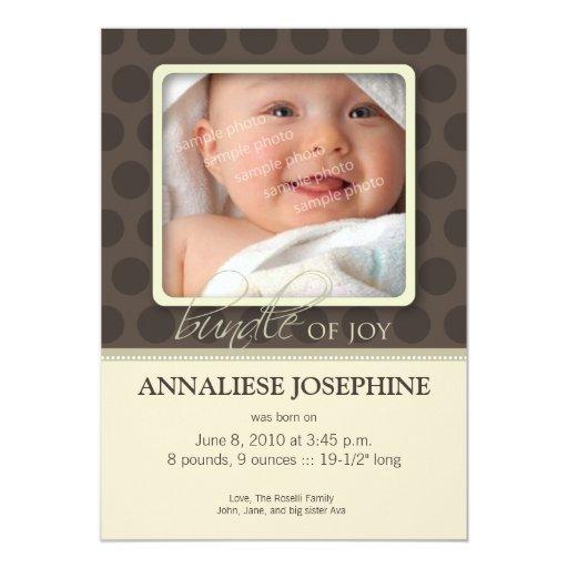 Beau paquet de faire-part de naissance de joie : : carton d'invitation  12,7 cm x 17,78 cm