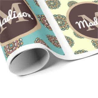 Beau patchwork floral w/Personalization Papiers Cadeaux