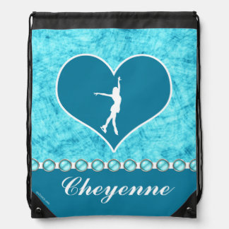 Beau patineur artistique décoré d'un monogramme de sac à dos