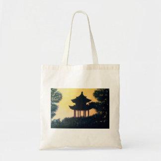 Beau paysage de coucher du soleil d'art de sacs
