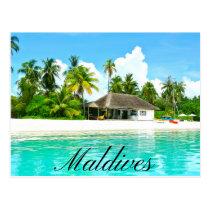 Beau paysage des Maldives Carte Postale