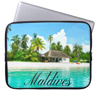 Beau paysage des Maldives Housse Pour Ordinateur Portable