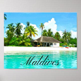 Beau paysage des Maldives Poster