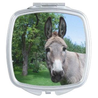 Beau portrait d'âne miroir compact