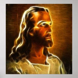 Beau portrait de Jésus Posters