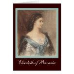 Beau portrait d'impératrice Elisabeth - Sisi Cartes De Vœux