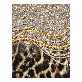 Beau poster de animal à la mode de faux de léopard prospectus 21,6 cm x 24,94 cm