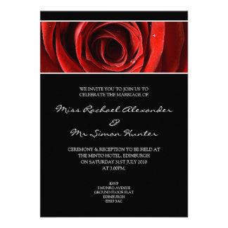 Beau rose rouge épousant le noir d'Invitiation- Bristol