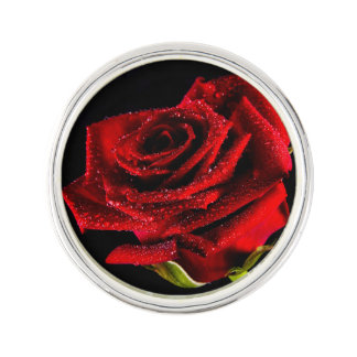 Beau rose rouge pin's