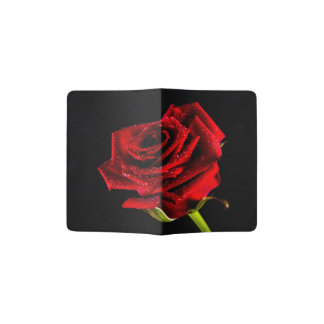 Beau rose rouge protège-passeports
