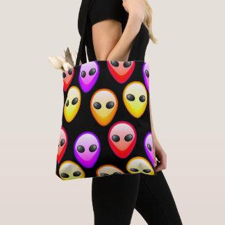 Beau sac coloré de texture d'aliens