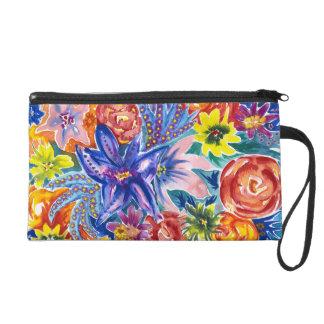 Beau sac floral pour aquarelle de bourse de