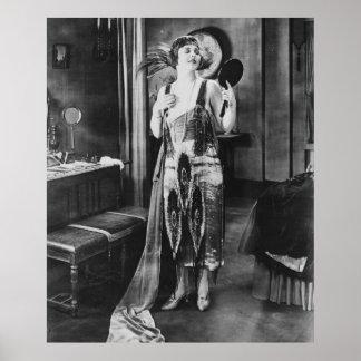 Beau style des années 1920 de robe d'aileron de posters