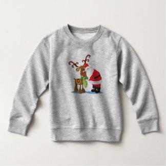 Beau sweatshirt du père noël et du renne  