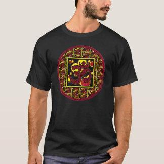 Beau symbole w/Circles de l'OM Aum et carrés T-shirt