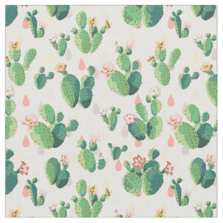 Beau tissu mignon de cactus
