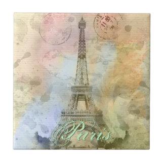 Beau Tour Eiffel vintage girly à la mode France Carreau