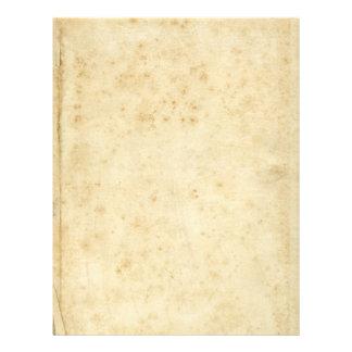 Beau vieux papier vide antique souillé rustique prospectus 21,6 cm x 24,94 cm