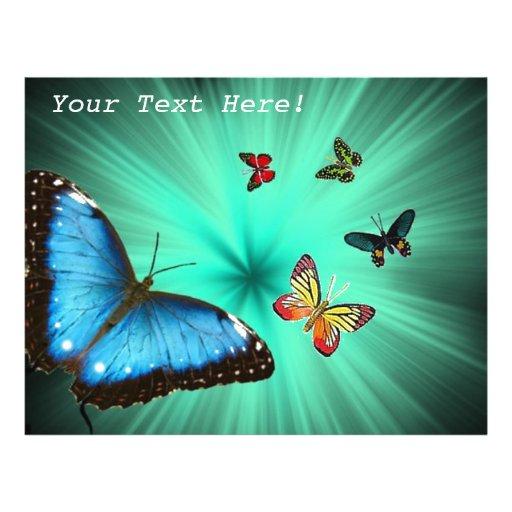 Beau voyage de papillon tract customisé