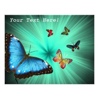 Beau voyage de papillon prospectus 21,6 cm x 24,94 cm