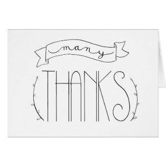 Beaucoup de carte de remerciements de mercis