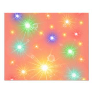 beaucoup le petit soleil coloré, lumières prospectus 11,4 cm x 14,2 cm