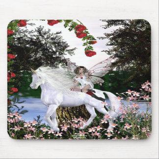 Beauté blanche 4 de licorne de coeur d'ange tapis de souris