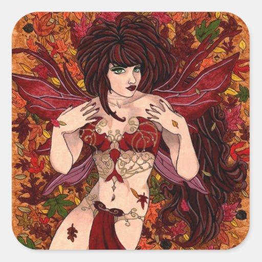 Beauté d'automne stickers carrés