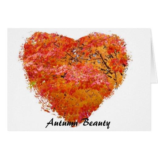 Beauté d'automne carte