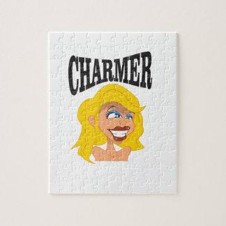 beauté de blonde de charmeur puzzle