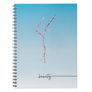 beauté de _de _de journal de spirale de fleurs de