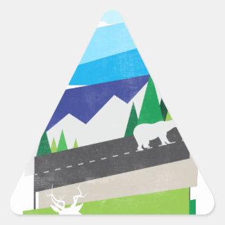 Beauté du sauvage sticker triangulaire